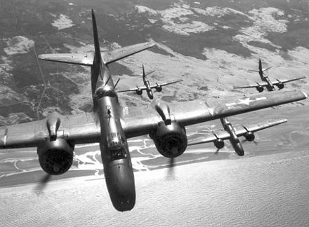 A flight of A-20G or H bombers over France - Douglas A-20 Havoc
