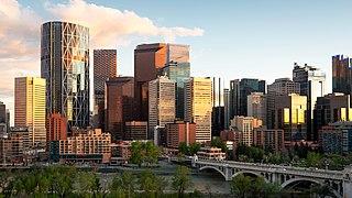 Downtown Calgary Neighbourhood in Calgary, Alberta, Canada
