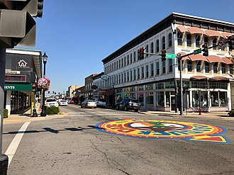 Conway, Arkansas - Image: Downtown Conway