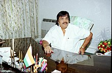Dr. Dasari Narayan Rao in his office after taking over the charge as the Minister of State for Coal & Mines in New Delhi on May 24, 2004.jpg