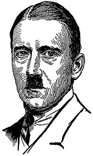 Adolf Hitler, head-and-shoulders portrait, fac...