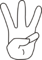 Drawing of human hand representing number 3.png