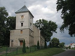 The church in Drzonów