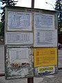 Dubá, autobusové nádraží, jízdní řády směr Praha.jpg