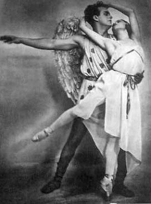 """Mikhail Dudko - Mikhail Dudko and Galina Ulanova in """"Eros"""" ballet, 1923"""