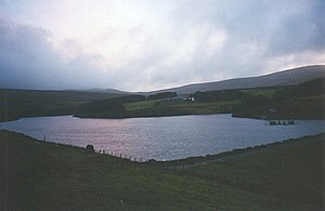 Sulby Reservoir - Dusk at Sulby Reservoir, 2009