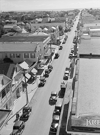 Duval Street - Duval St. seen from atop the La Concha Hotel in 1938, with a view toward the Atlantic. The Kress department store building seen at bottom right now houses a CVS. Photo: Arthur Rothstein