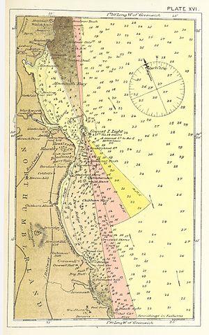 Coquet Island, England - Nautical chart «Coquet Island Lighthouse» (1875)