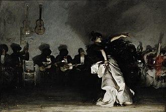 John Singer Sargent - El Jaleo (Spanish Dancer), c. 1879–82, Isabella Stewart Gardner Museum