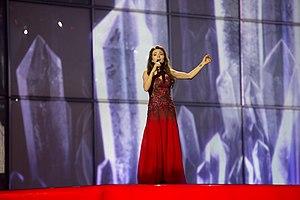 Azerbaijan in the Eurovision Song Contest 2014 - Dilara Kazimova at the first semi-final dress rehearsal
