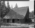 EXTERIOR SOUTHWEST VIEW - George Meyer Barn No. 1, Old Coulterville Road, Foresta, Mariposa County, CA HABS CAL,22-FOR.V,1-A-4.tif