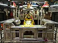 Early Morning Just before Aarti time Temple inside pic-2 with Goddess Maa Kalka Ji.jpg