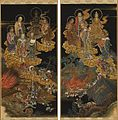 Earthquake, Five Hundred Arhats, Scrolls 81 & 82.jpg