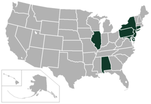 East Coast Conference (Division I) - Image: East Coast Conference USA states