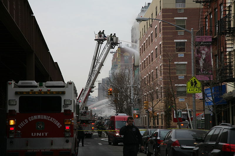 File:East Harlem apartment explosion street view.jpg