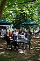 Easton Lodge Gardens, Little Easton, Essex, England outdoor café 05.jpg