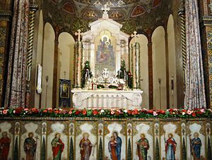 Armenian Rite - The Armenian curtained main altar of Holy Etchmiadzin