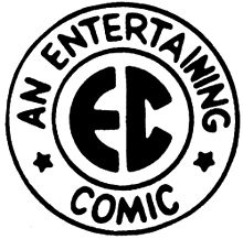 "Circular logo with ""EC"" in the center, surround by the words ""An Entertaining Comic"""