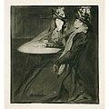 Edgar Chahine - Two women at a table.jpg