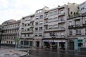 O terceiro andar do edificio Sanchón foi a sede do bufete de Paz-Andrade.[24]