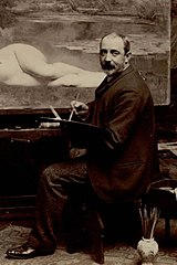 Edmond Bénard - Émile Foubert in his studio (cropped).jpg