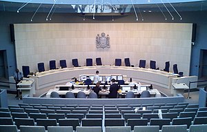 Edmonton City Council - The council chambers in City Hall.