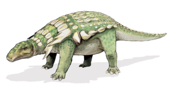 the image shows an edmontonia. a sort of dinosaur