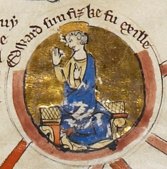Edward the Exile - Edward the Exile depicted on a medieval genealogical scroll.