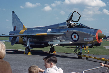 Lightning T.4 at Farnborough Airshow, England, in 1964 - English Electric Lightning