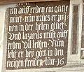Eggenburg Sgrafittohaus - Lazarus 4 Inschrift.jpg