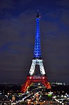 Eiffel Tower Paris honor our victims (22707199217).jpg