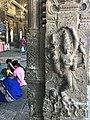 Ekambareswarar Temple Kanchipuram Tamil Nadu - pillared hall pilgrims resting.jpg