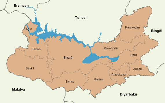 Elazığ location districts.png