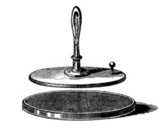 Electrophorus manual capacitive generator