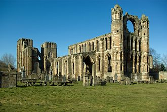 Elgin Cathedral - Image: Elgin Cathedral view from rear