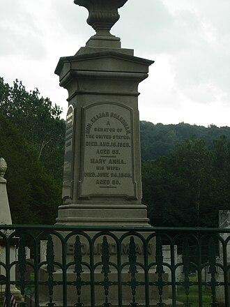 Elijah Boardman - Elijah Boardman's gravestone in New Milford, Connecticut.