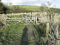 Entrance gate to Corsydd Llangloffan National Nature Reserve - geograph.org.uk - 1727917.jpg