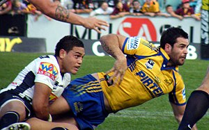 Eric Grothe Jr. - Grothe playing for Parramatta in 2009