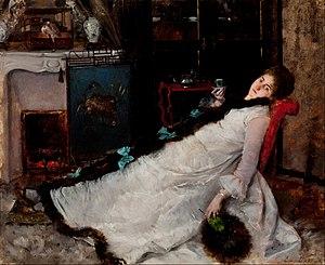 Ernest Ange Duez - En repos (1891)