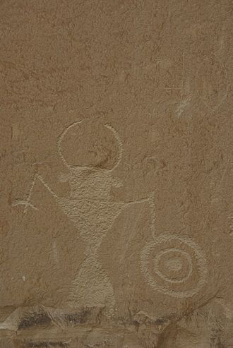 Grand Staircase-Escalante National Monument - Anthropomorphic petroglyph along the Escalante River