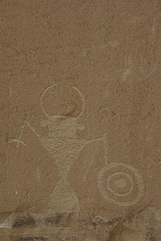 Grand Staircase-Escalante National Monument - Anthropomorphic petroglyph along the Escalante River