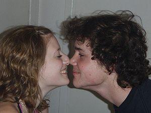 Eskimo kissing - Eskimo kiss