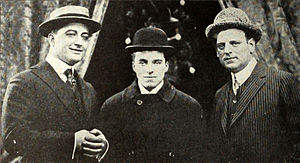 Essanay Studios - Essanay's stars in 1915: Francis X. Bushman, Charlie Chaplin and studio co-owner and actor Broncho Billy Anderson.