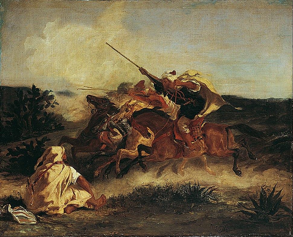 Eugène Delacroix - Fantasia Arabe - Google Art Project