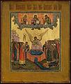 Exaltation of the Cross - Palekh icon (19 c, priv.coll).jpg