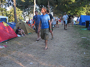 Kamp za posetioce tokom Egzita 07