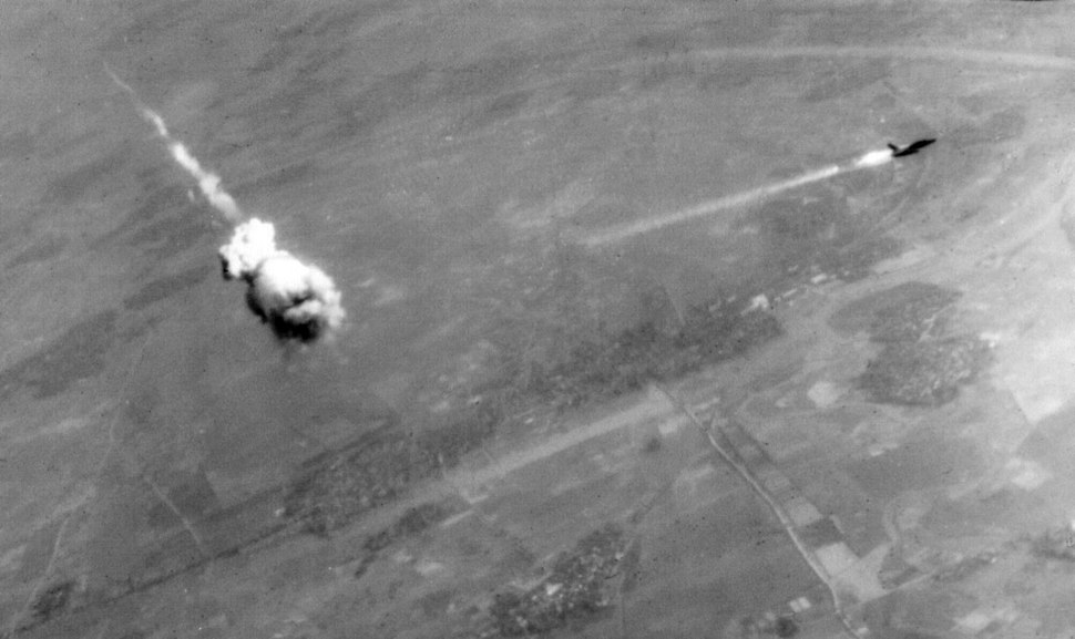F-105 hit by SA-2 over Vietnam