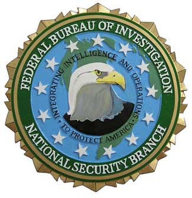 FBI National Security Branch seal med
