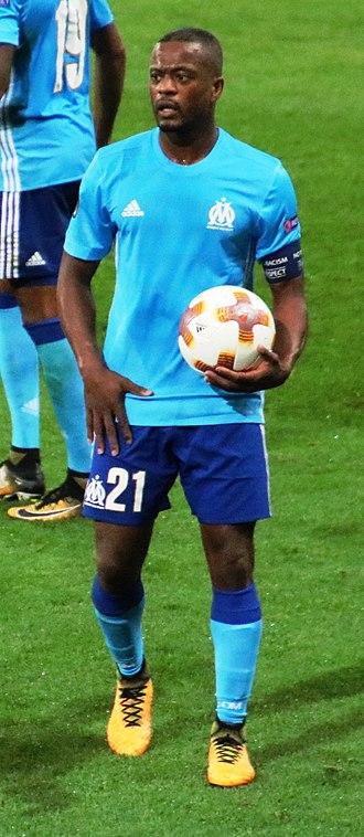 Patrice Evra - Evra warming up for Marseille in September 2017