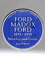 FORD MADOX FORD 1873-1939 Novelist and Critic lived here.jpg